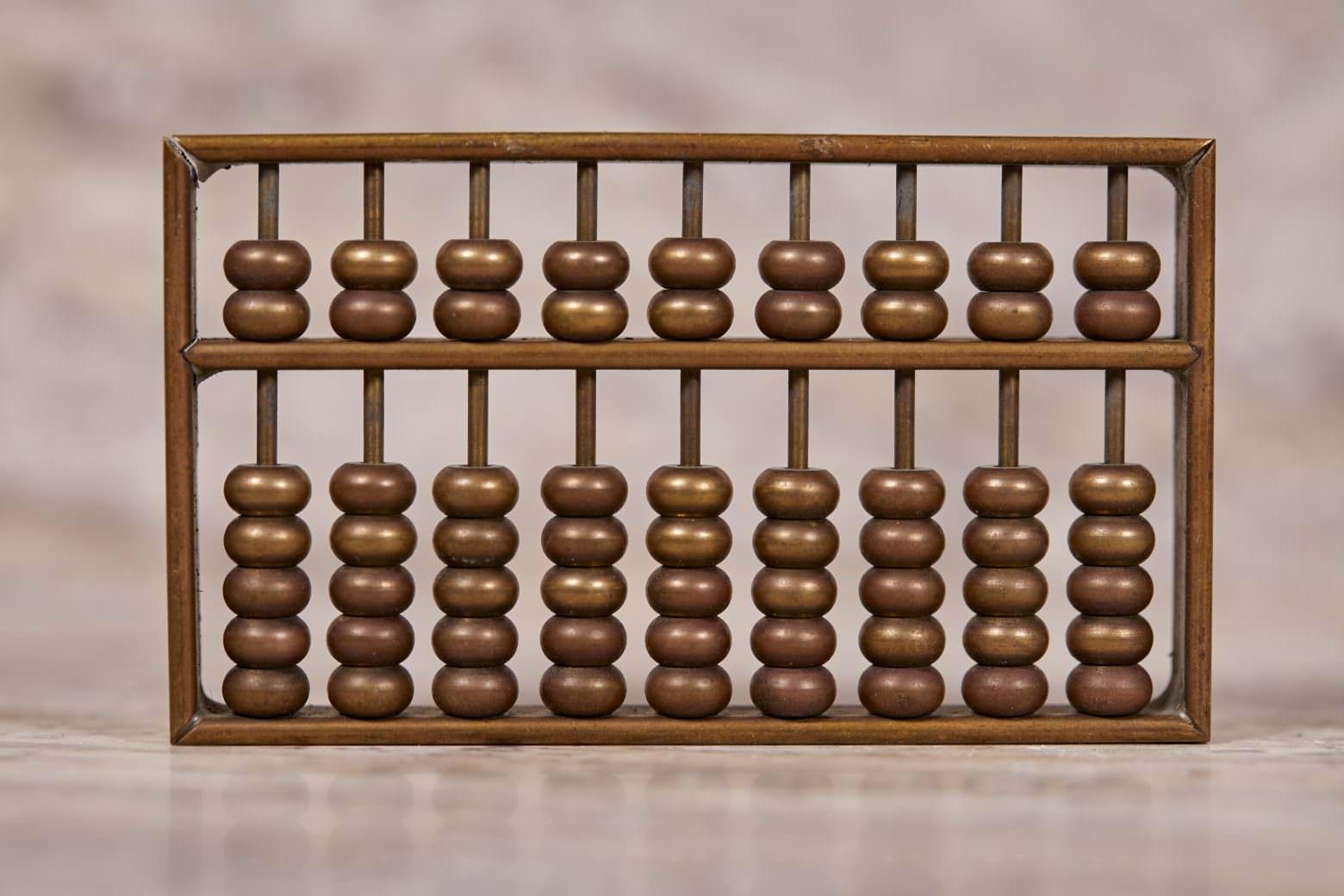 Abacus on Travertine