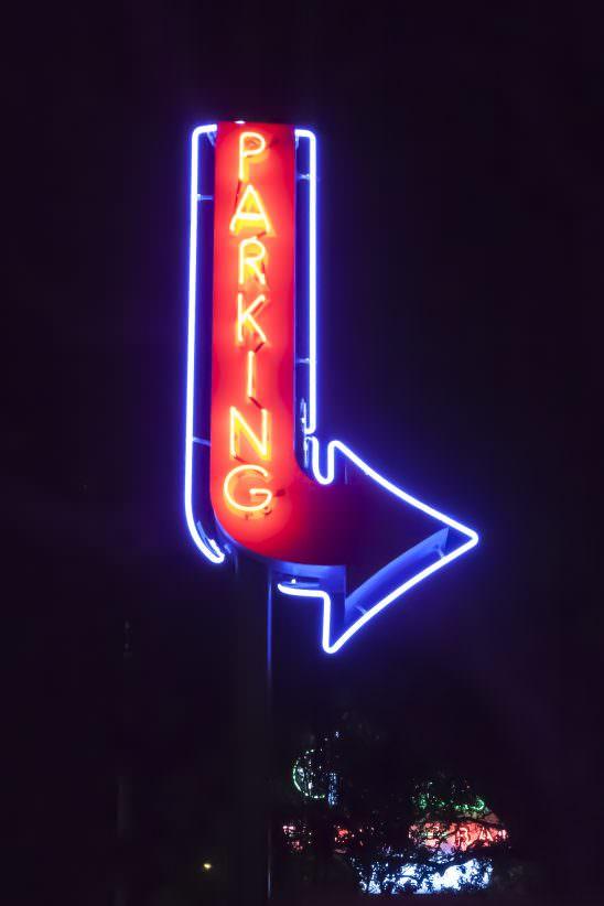 Neon Parking Sign 1