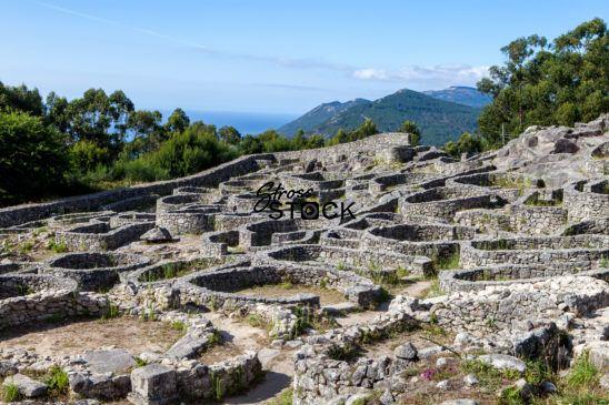 Celtic Iron Age Hill Fort, Santa Tecla, Galicia, Spain