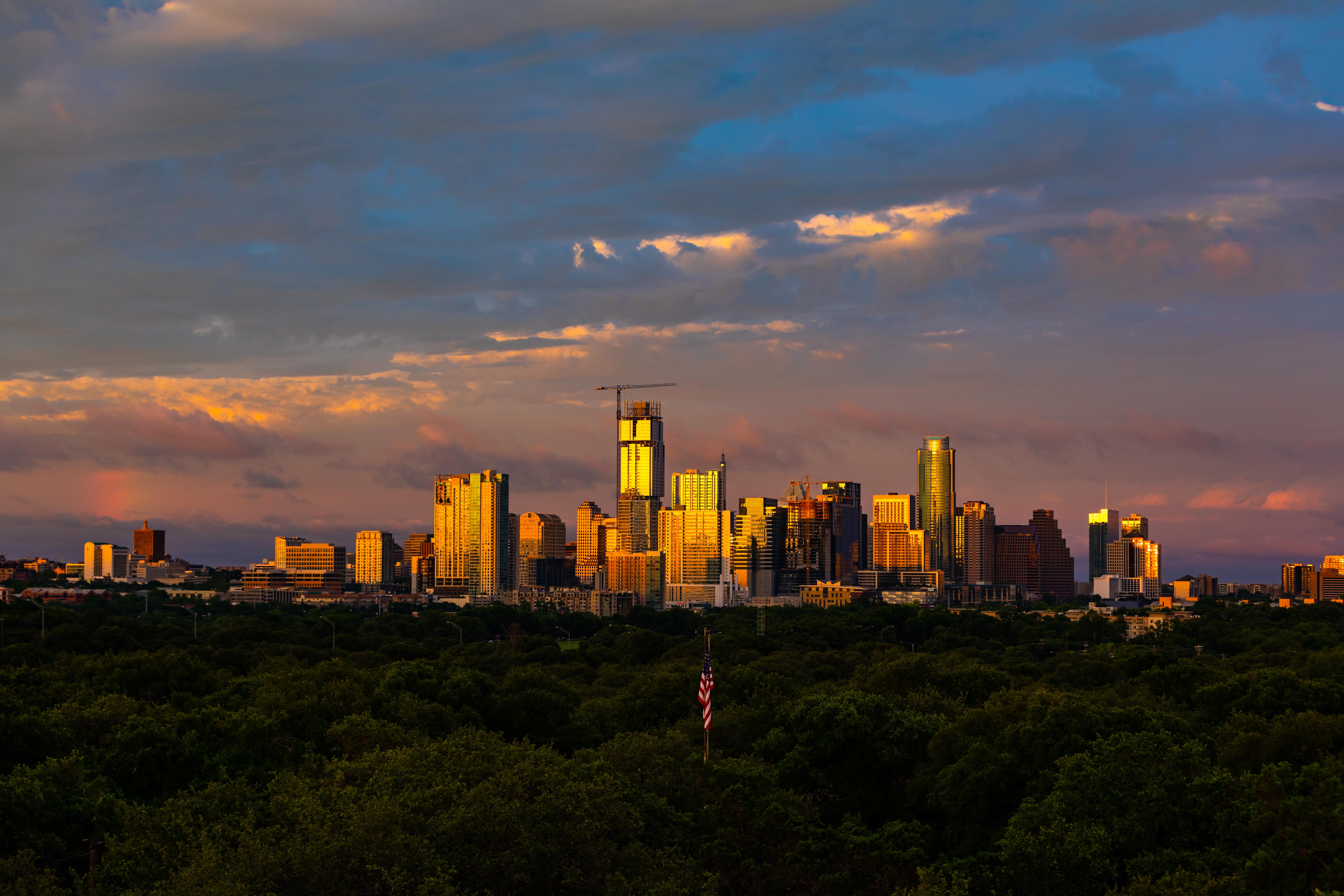 Downtown Austin Skyline Sunset-1